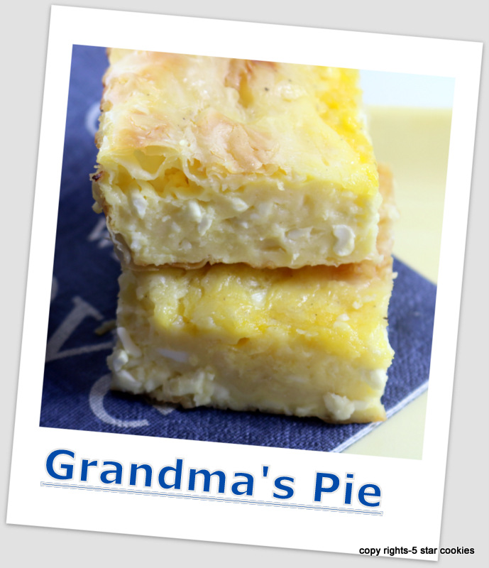 Grandmas Balkan Pie from the best food blog 5starcookies-baked cheese pie, serve and enjoy