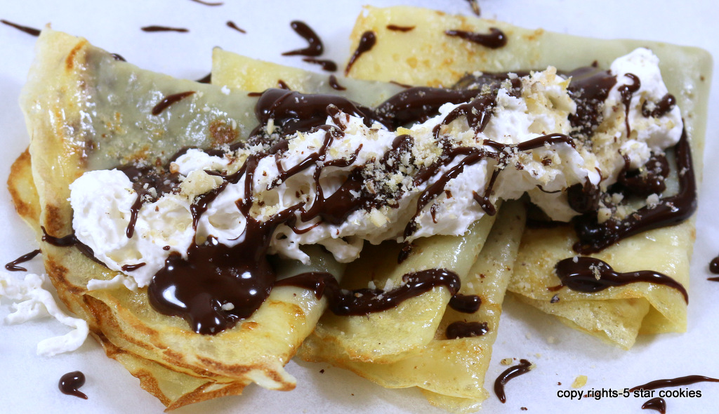 crepes from the best food blog 5starcookies-Serve Now