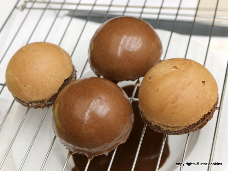 Nutella Chocolate Bombes from the best food blog 5starcookies-Glaze station