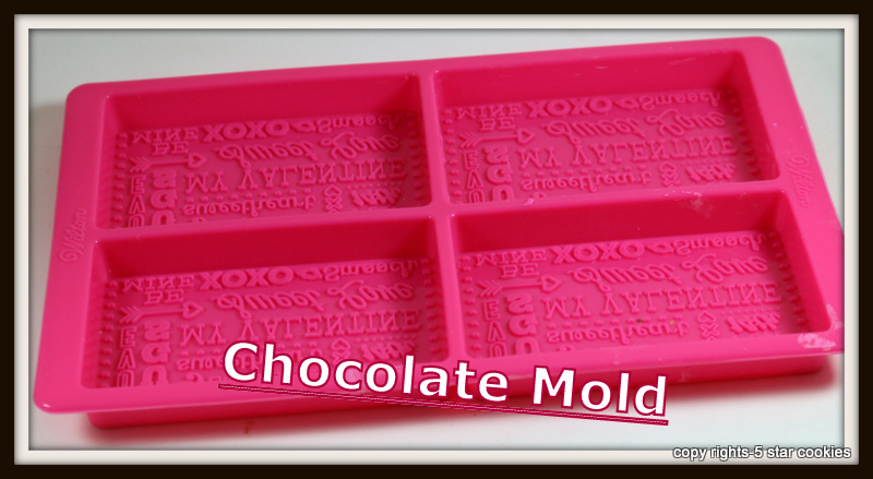 Valentine Love Chocolate from the best food blog 5starcookies -chocolate mold to be used