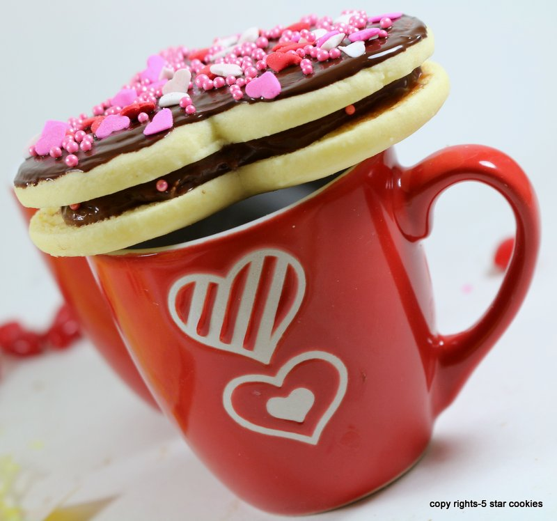 Nutella Valentines Heart from the best food blog 5starcookies