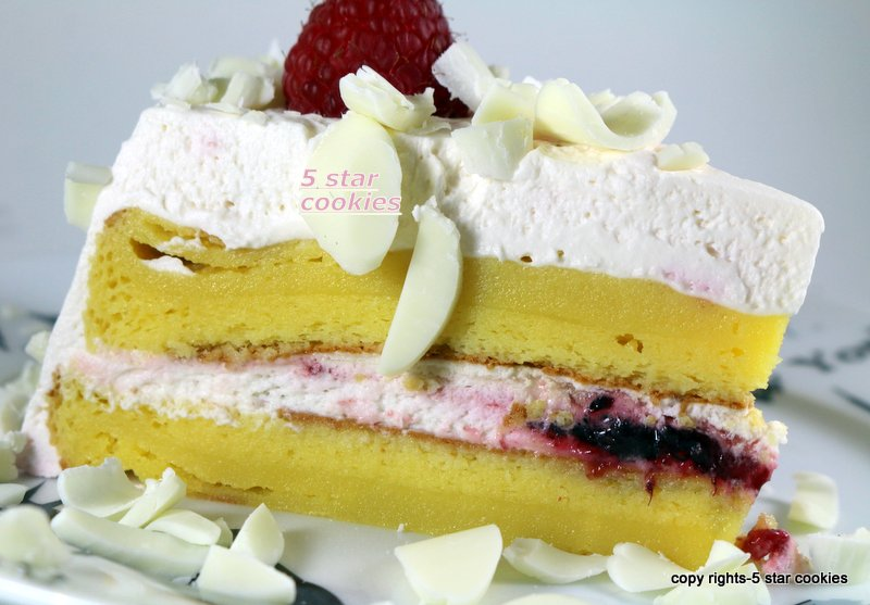 Raspberry White Chocolate Lemon Flourless Torte 5starcookies - enoy your cake