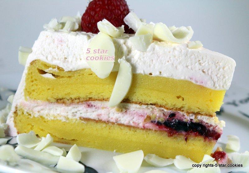 Raspberry White Chocolate Lemon Flourless Torte 5starcookies - enoy your cake