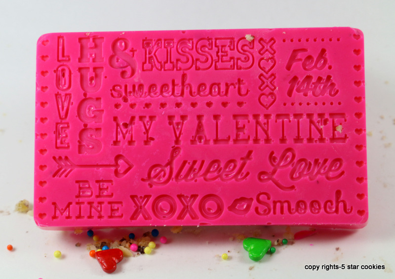 Valentine Love Chocolate from the best food blog 5starcookies - Pink Chocolate in mold