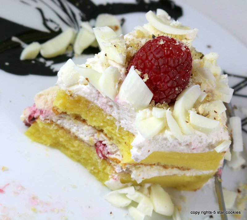 Raspberry White Chocolate Lemon Flourless Torte from the best food blog 5starcookies