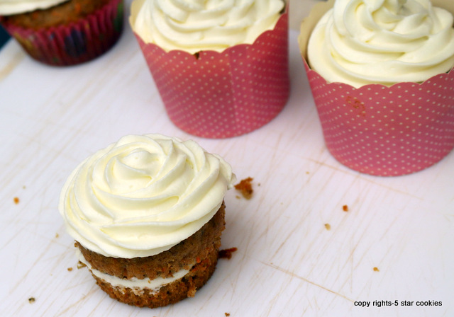 the best cheese carrot cupcakes from the best food blog 5starcookies-frost cupcakes