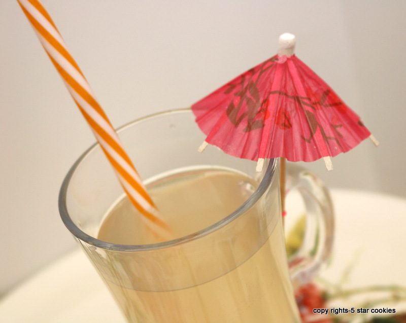 apple cider honey healthy drink from the best 5starcookies-apple cider,honey and sprinkle water