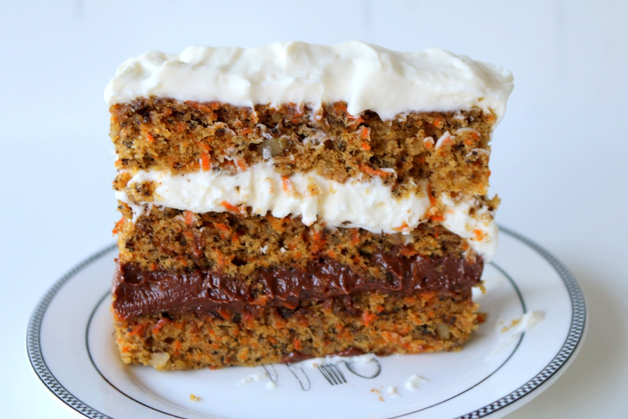 Nutella Cheese Carrot Cake from the best food blog 5starcookies-Hello Happy
