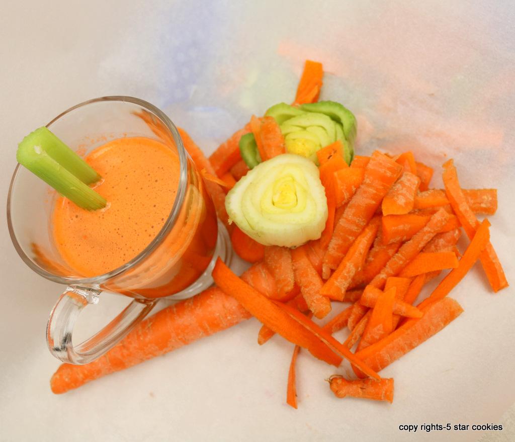 Carrot Celery Juice from the best food blog 5starcookies