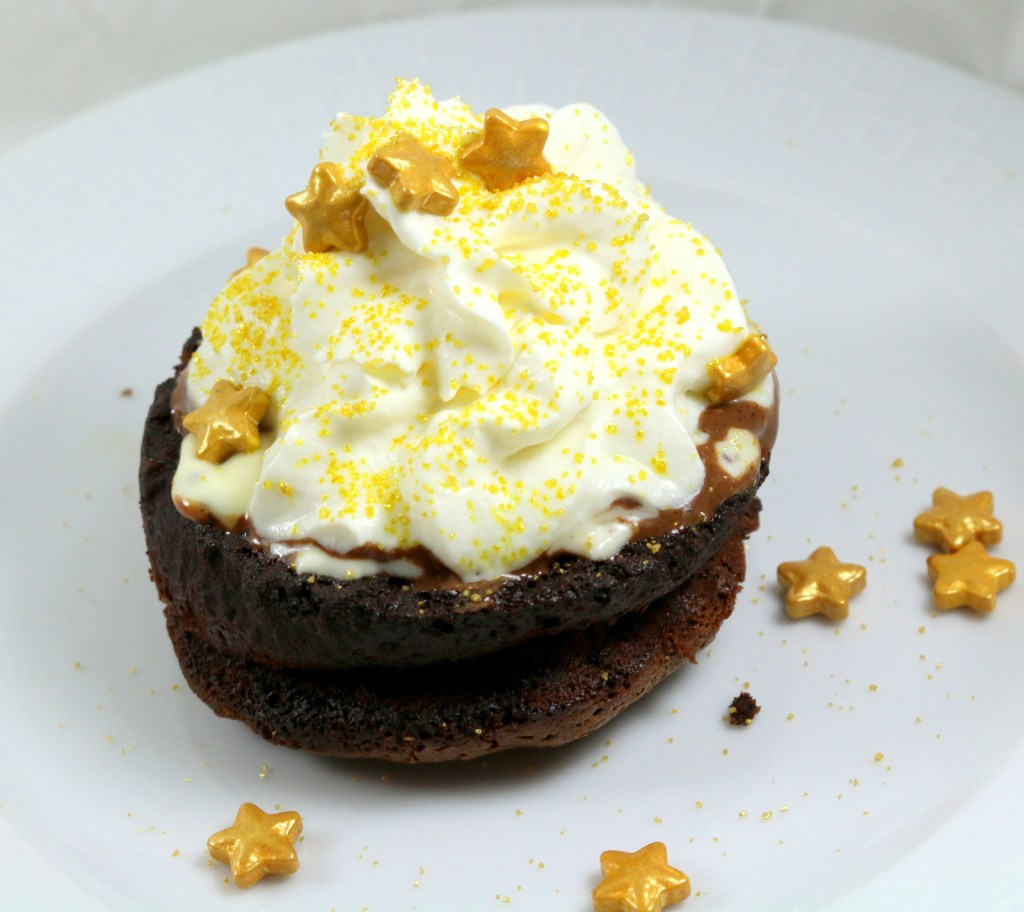 hazelnut orange lava cake from the best food blog 5starcookies-make the best chocolate molten lava cake
