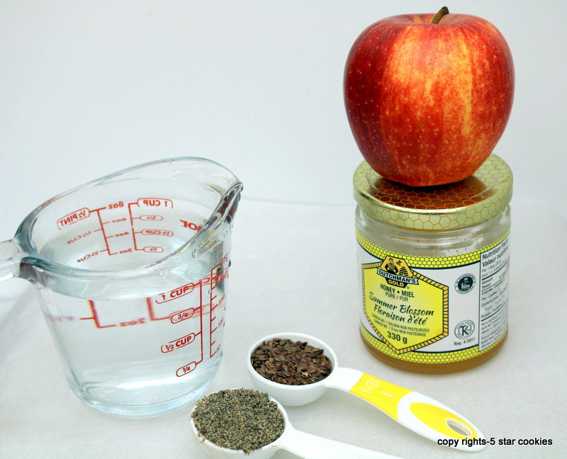 Apple Chia Healthy Drink from the best food blog 5starcookies-ingredients for this healthy drink