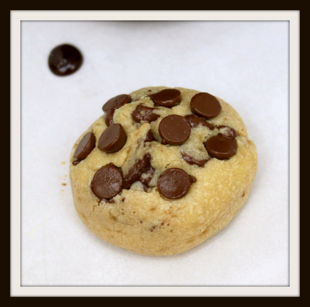 Soft chewy chocolate chip cookies in chocolate dip from the best food blog 5starcookies - frame your chocolate moment