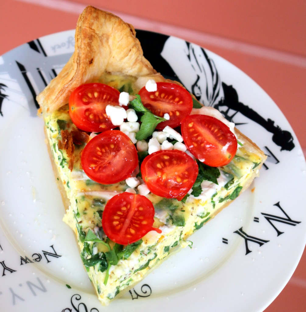 Ricotta and Spinach Quiche from the best food blog 5starcookies - joy from France