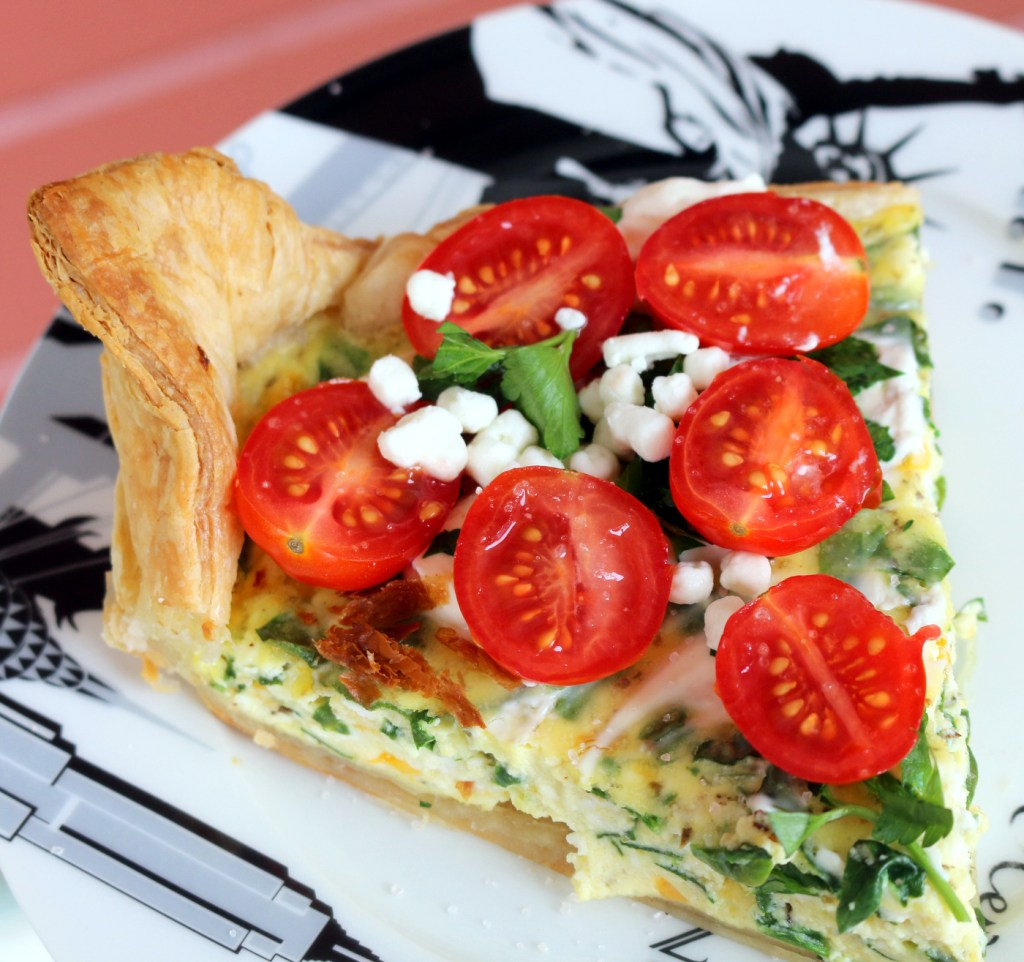 Ricotta and Spinach Quiche from the best food blog 5starcookies - making the best quiche