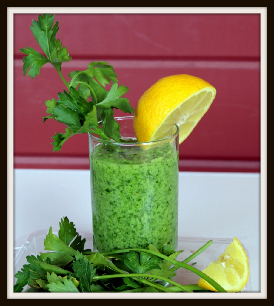 Italian Parsley Banana Lover Drink from the best food blog 5starcookies -refreshing drink if you are tired or low energy