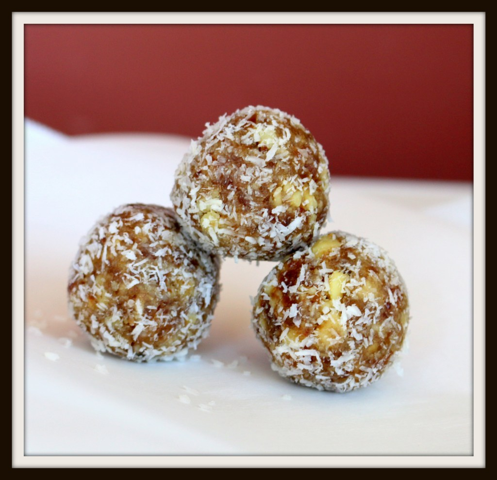 Walnut Date Coconut Bites