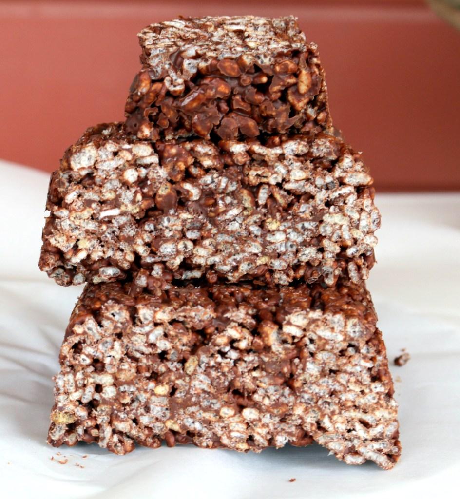 Chocolate rice krispies quick bread
