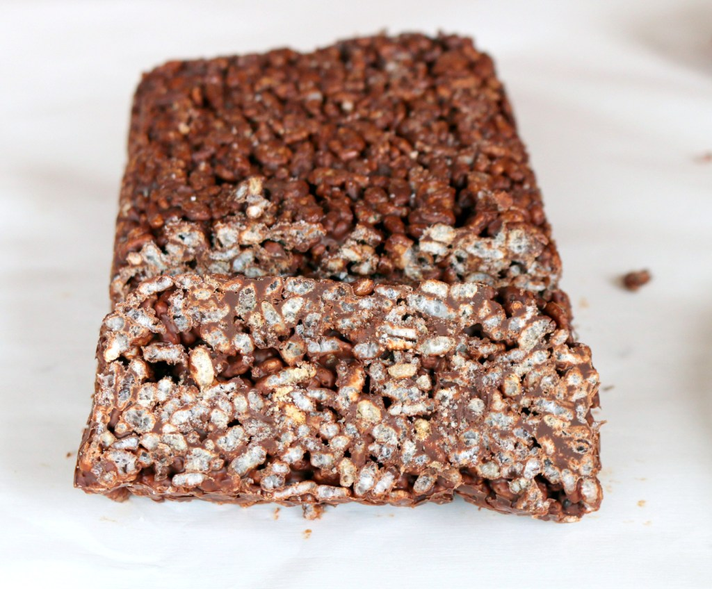 Chocolate Rice Krispies Quick bread-cut into desired size and enjoy