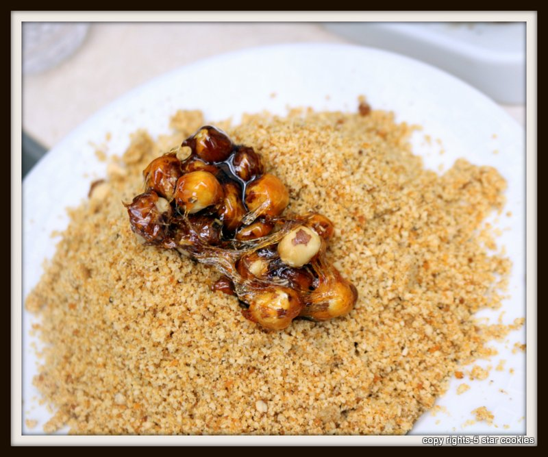 Grounded Caramelized Hazelnuts-decorate cakes,tortes and more