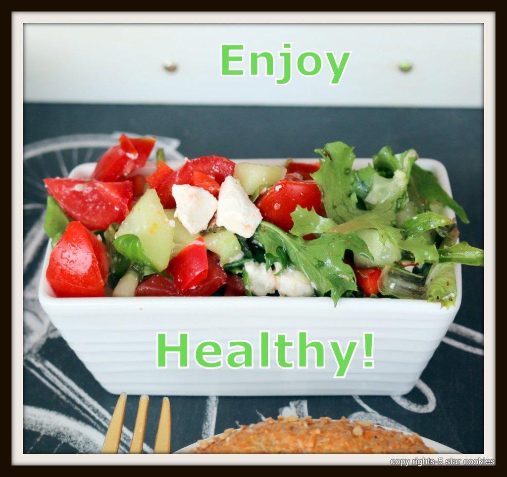 Healthy Greek salad from the best food 5starcookies