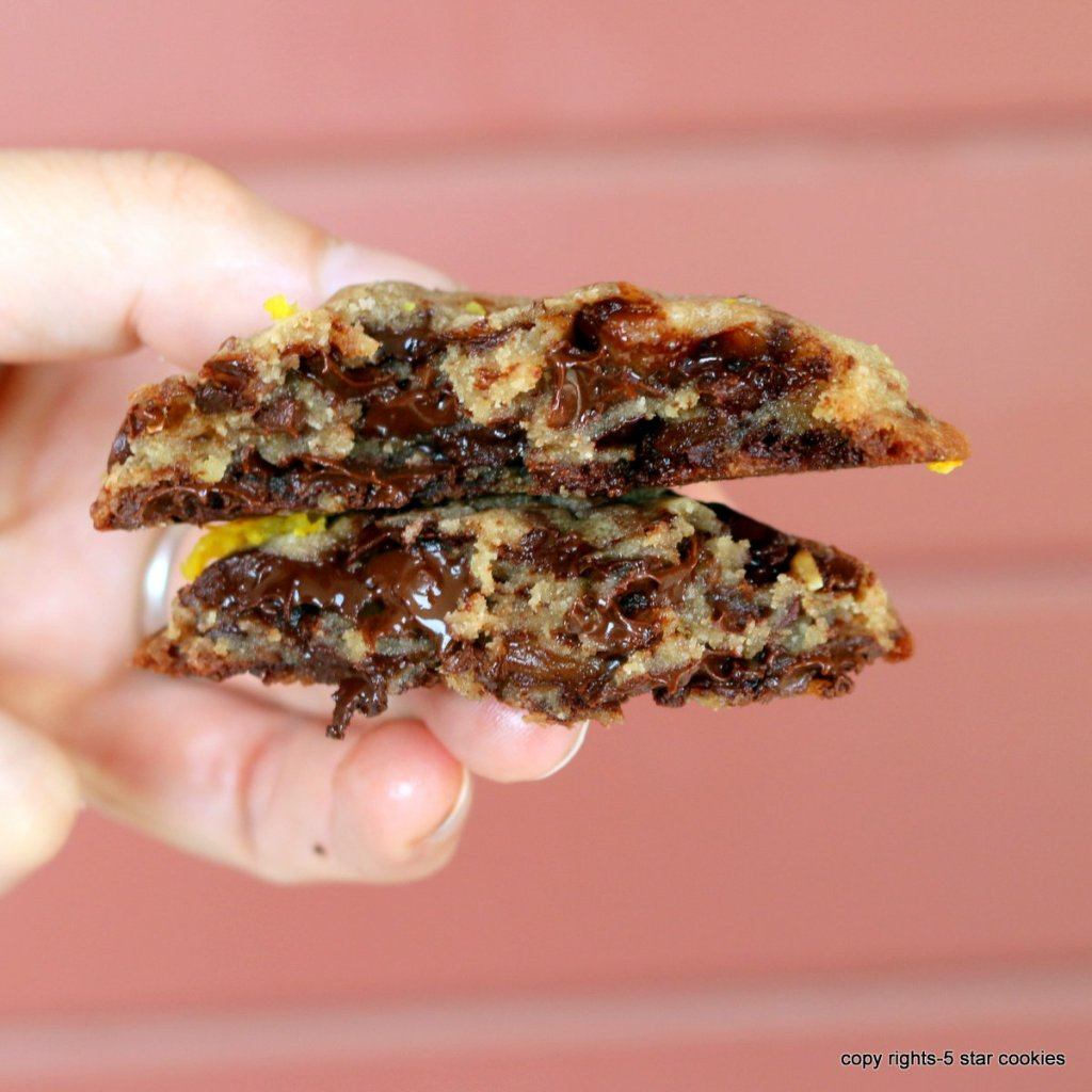 chocolate cookies with orange