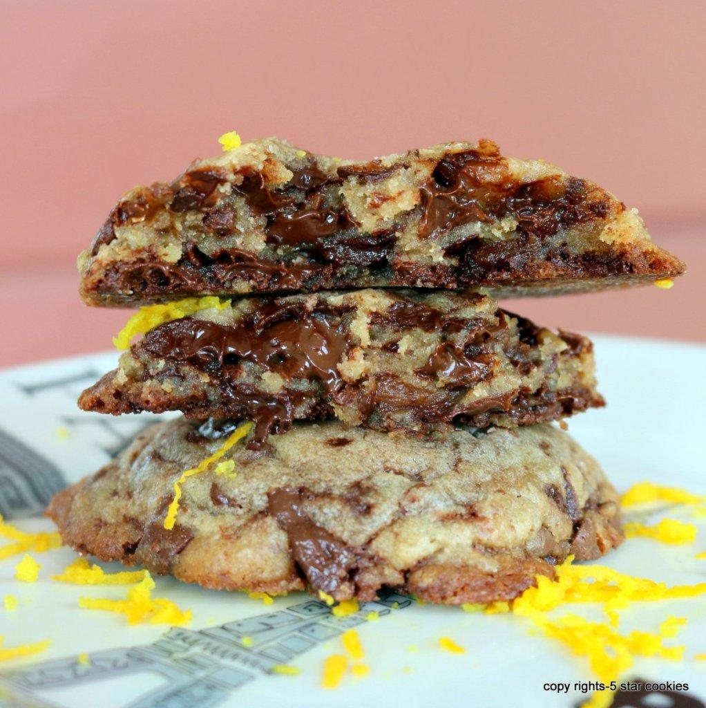 making chocolate chip cookies Orange Intense