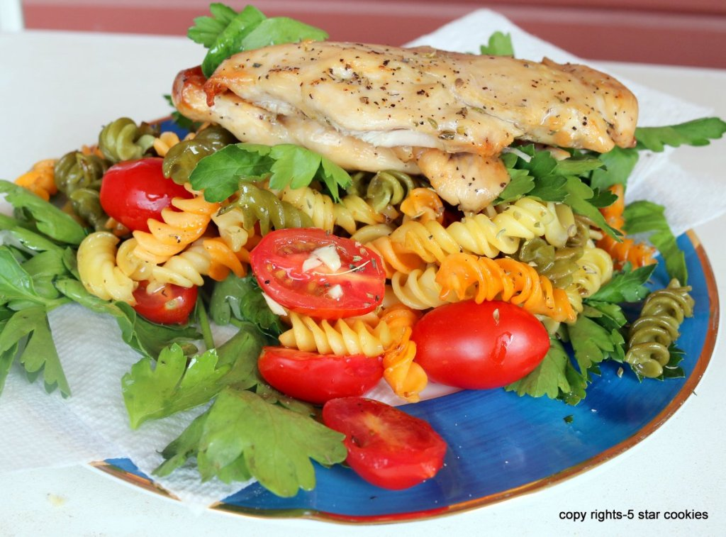 serve easy baked chicken pasta