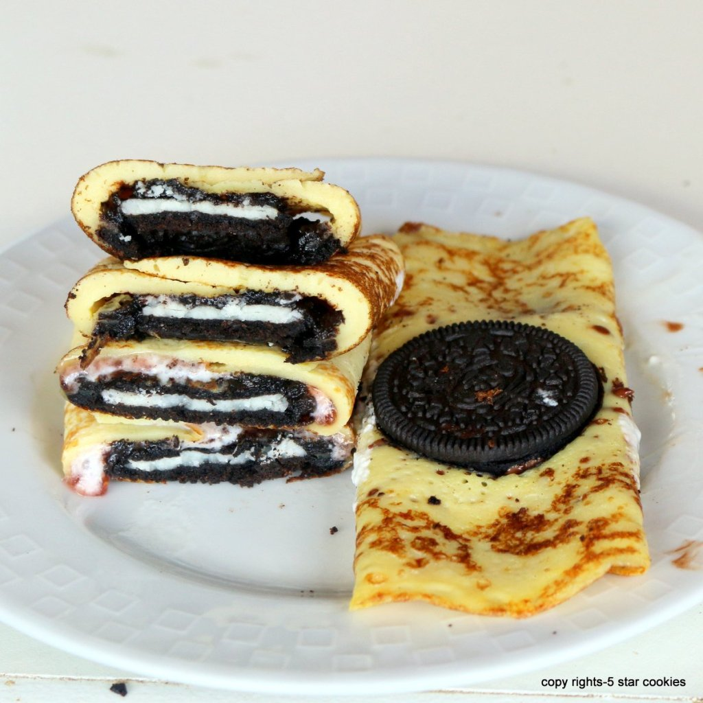Making Oreo Crepes