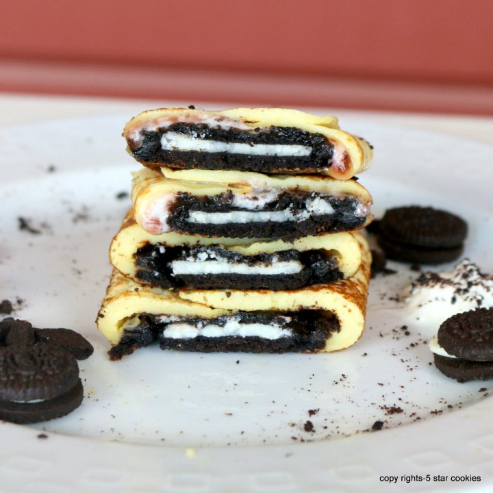 Oreo Breakfast Crepes