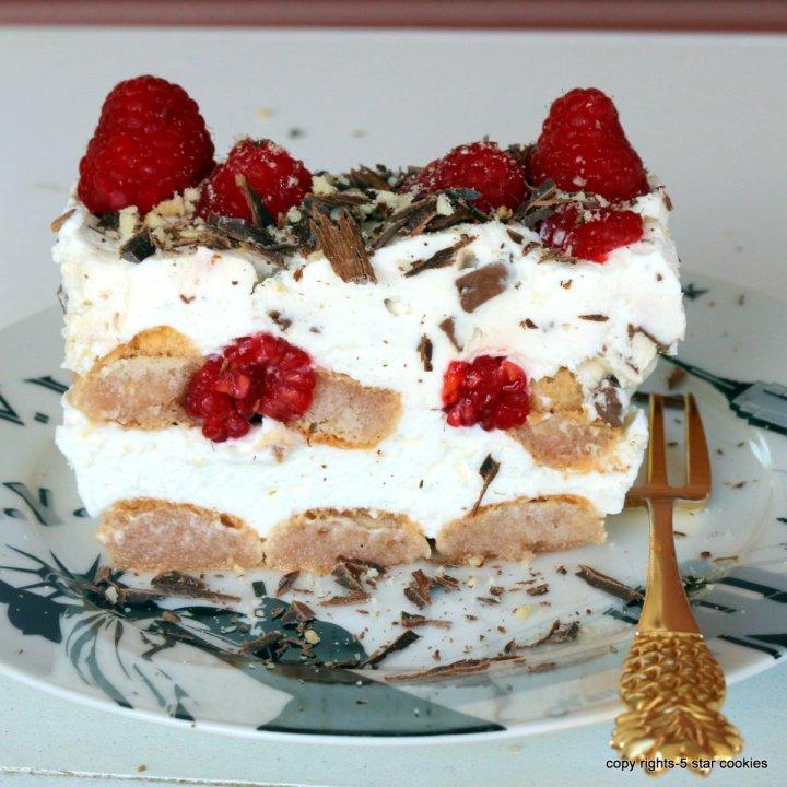 raspberry summer lindt dessert