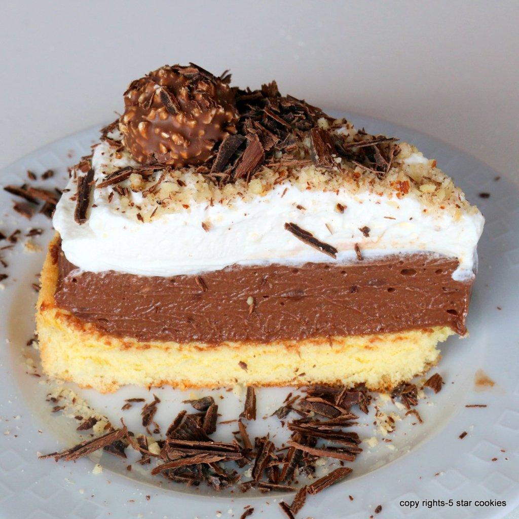 Moist ferrero sponge cake