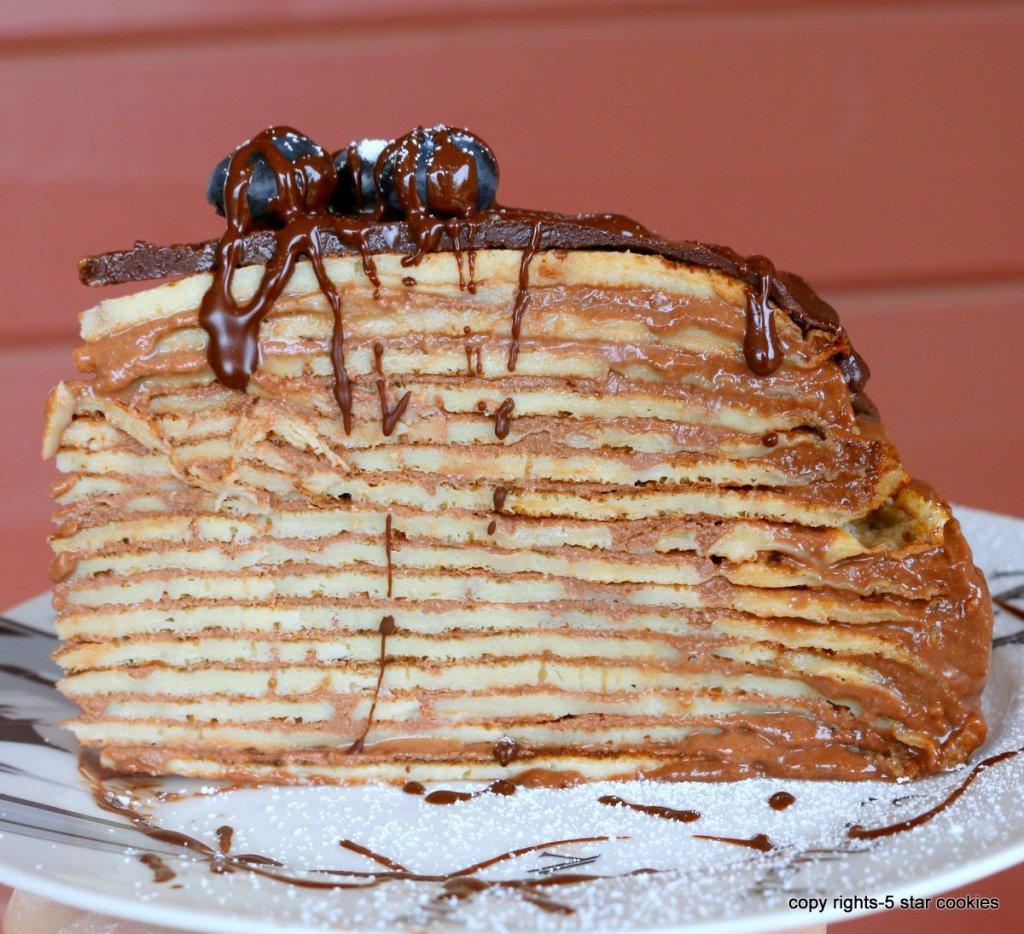 Mille Nutella Crepe Cake
