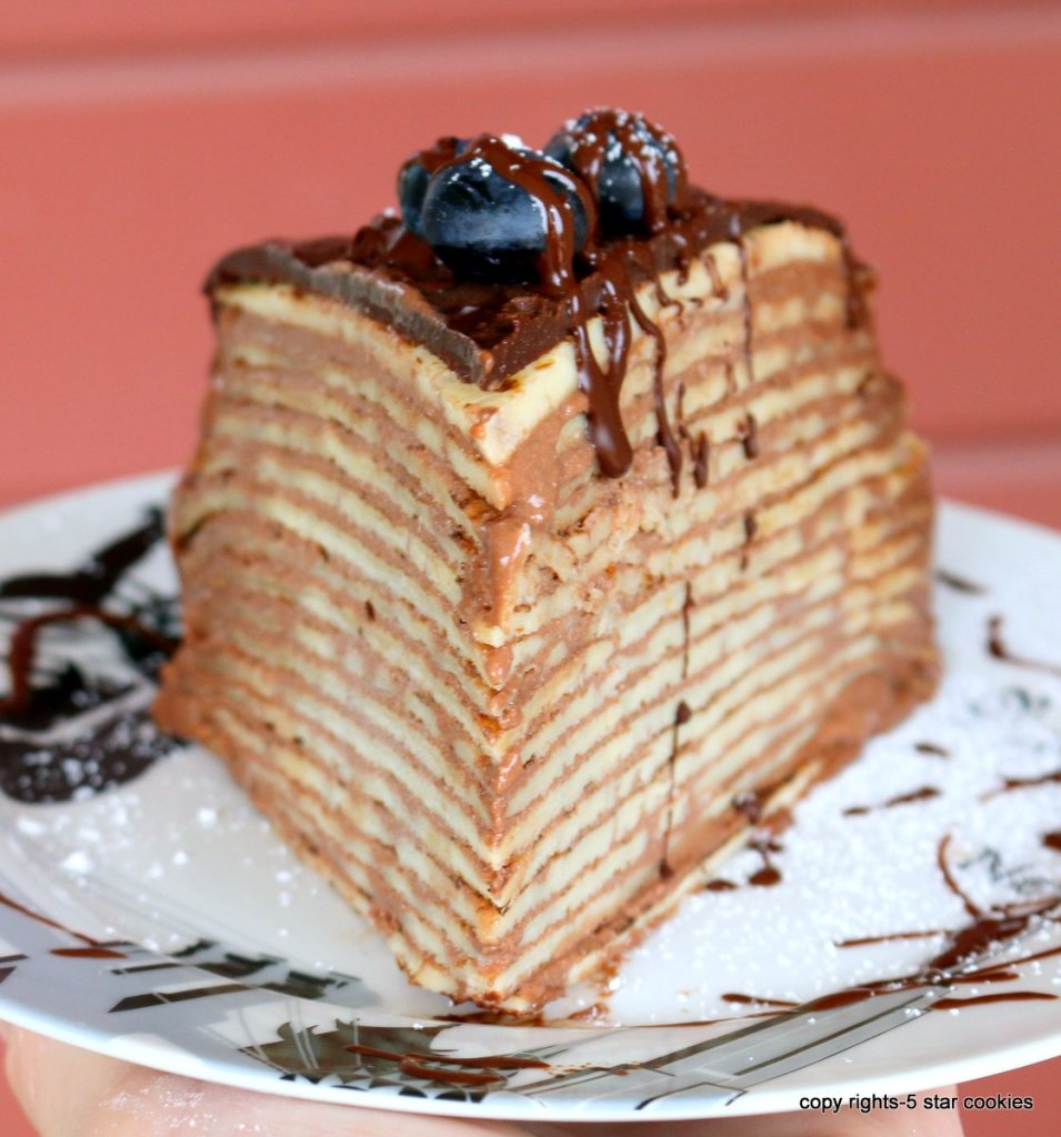 Super Easy Crepe Cake with Nutella