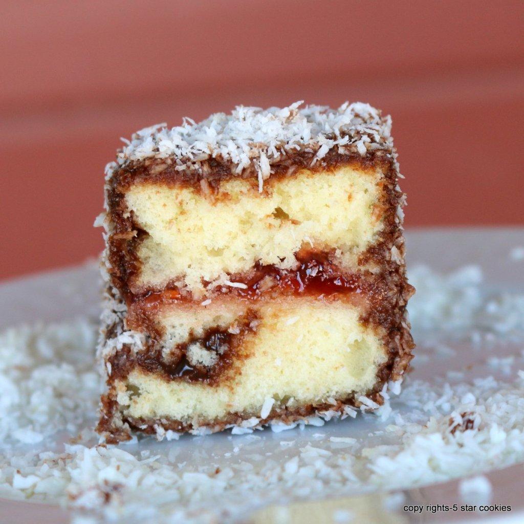 Lamington Australian cake