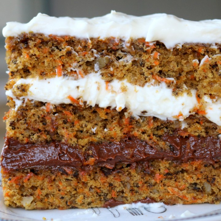 Nutella Cheese Carrot Cake