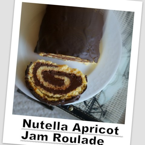 Nutella Apricot Jam Roulade