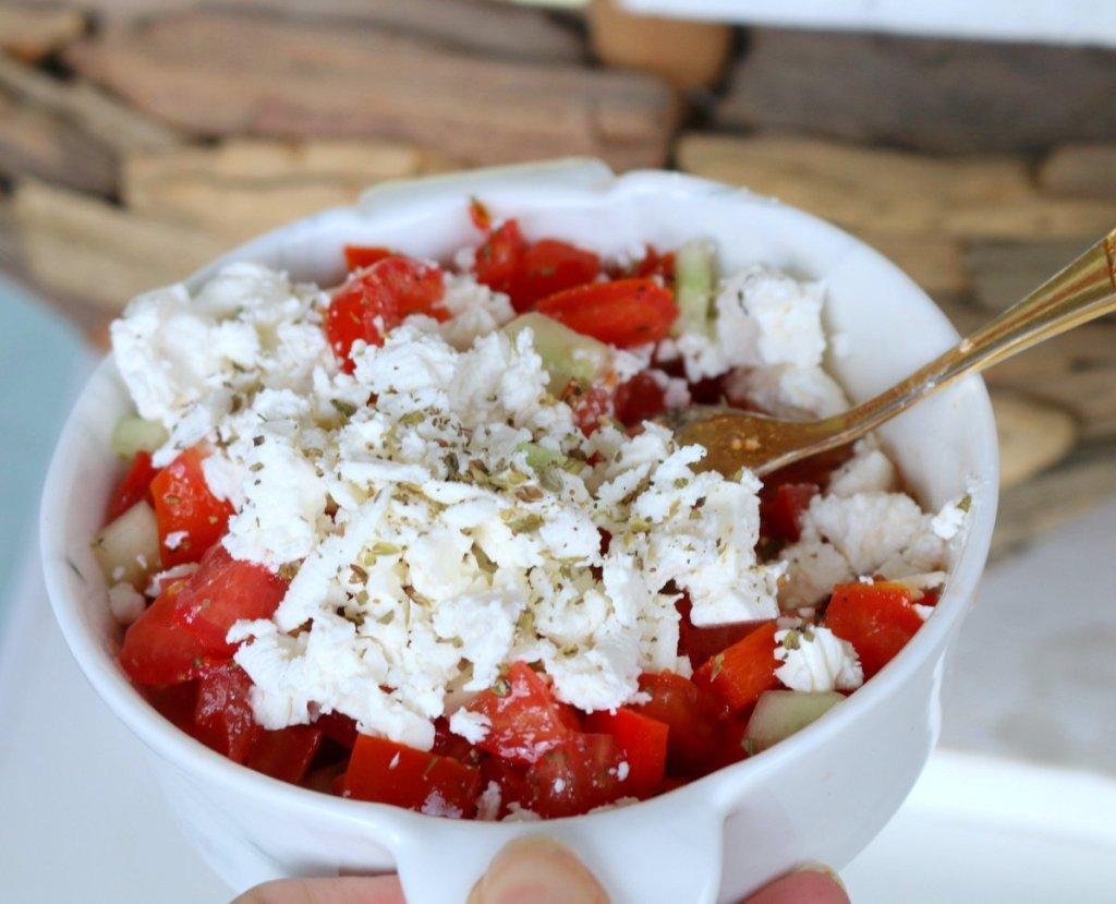 Summer tomatoes fresh salad