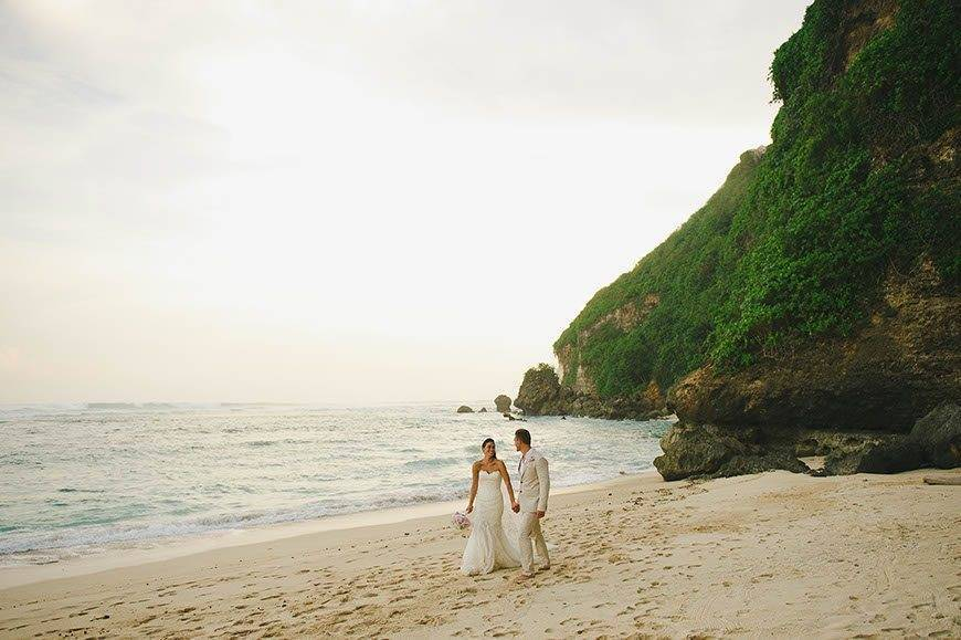 What beautiful scenery! Lush green and fresh beaches are a great pairing. Photo: The Ungasan Clifftop Resort