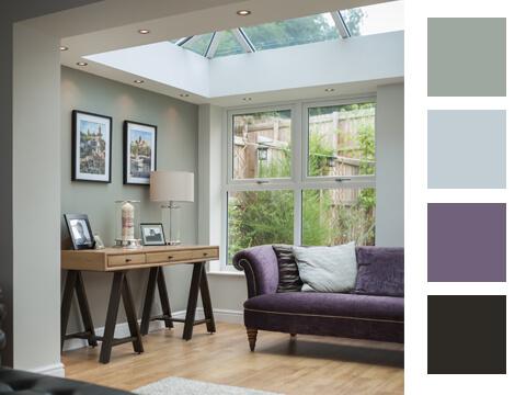 A colour pallette for an extension