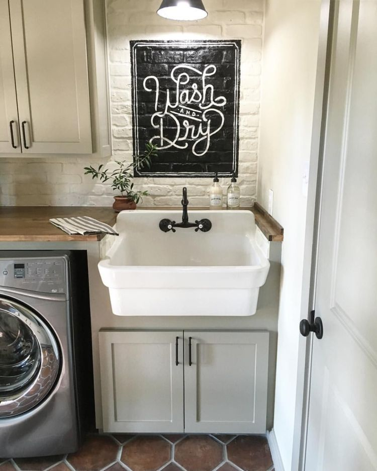Home remodeling idea - put a sink in your laundry area