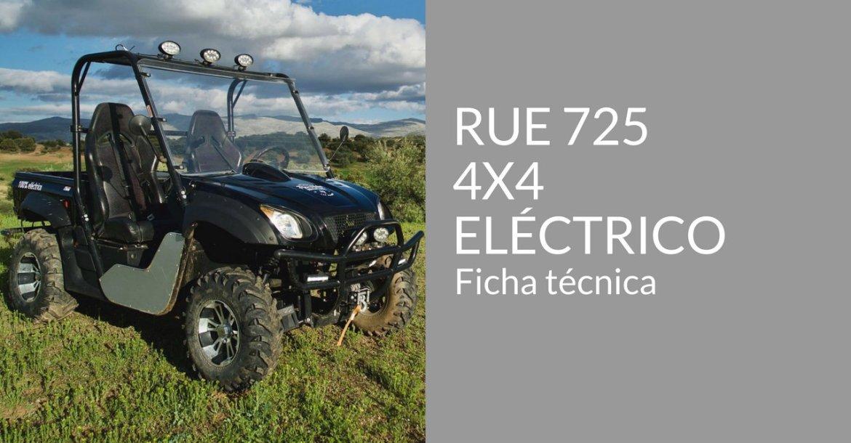 portada todo terreno 4x4 eléctrico Free to Vibe ficha tecnica RUE 725 600voltios