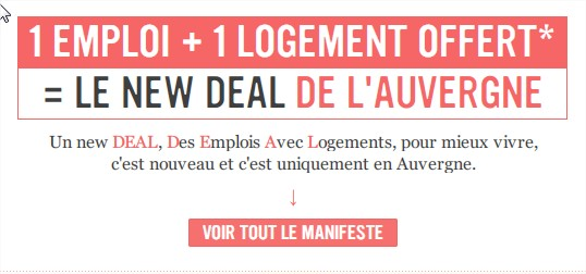Le New DEAL de l'Auvergne