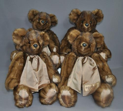 """Lori wanted bears for the whole family from her mink coat. These were 20"""" bears so we used every last bit of fur."""