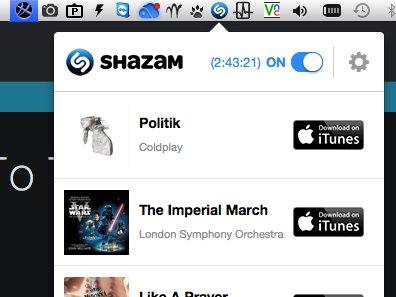 Shazam sur Mac