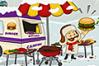 [ハンバーガーを吹っ飛ばしてお客さんの元まで届けるゲーム]Mad Burger 2