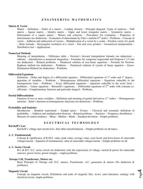 TIT lateral Entry syllabus in PDF , TITLEE 2018 syllabus