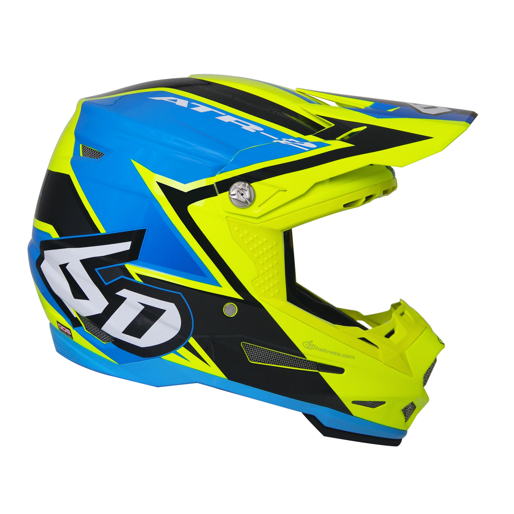 6D Helmets ATR-2 Strike Yellow Blue - XXL