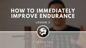 How to immediately improve endurance