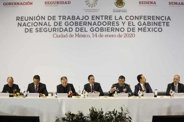 Seguiremos sumando esfuerzos constructivos: CONAGO ante gabinete federal de Seguridad