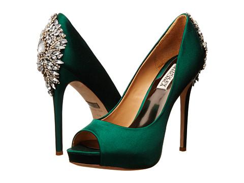 Badgley Mischka - Kiara (Emerald Green Satin) High Heels